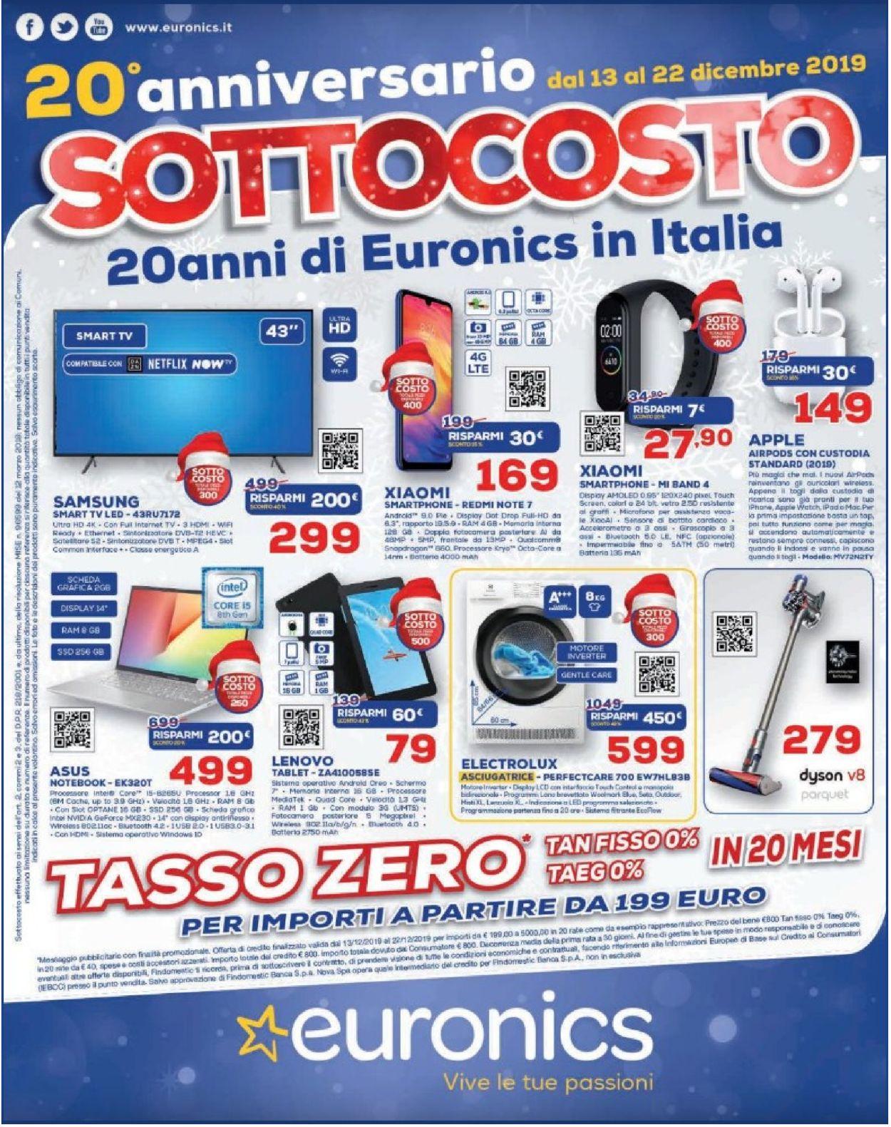 Volantino Euronics - Offerte 13/12-22/12/2019
