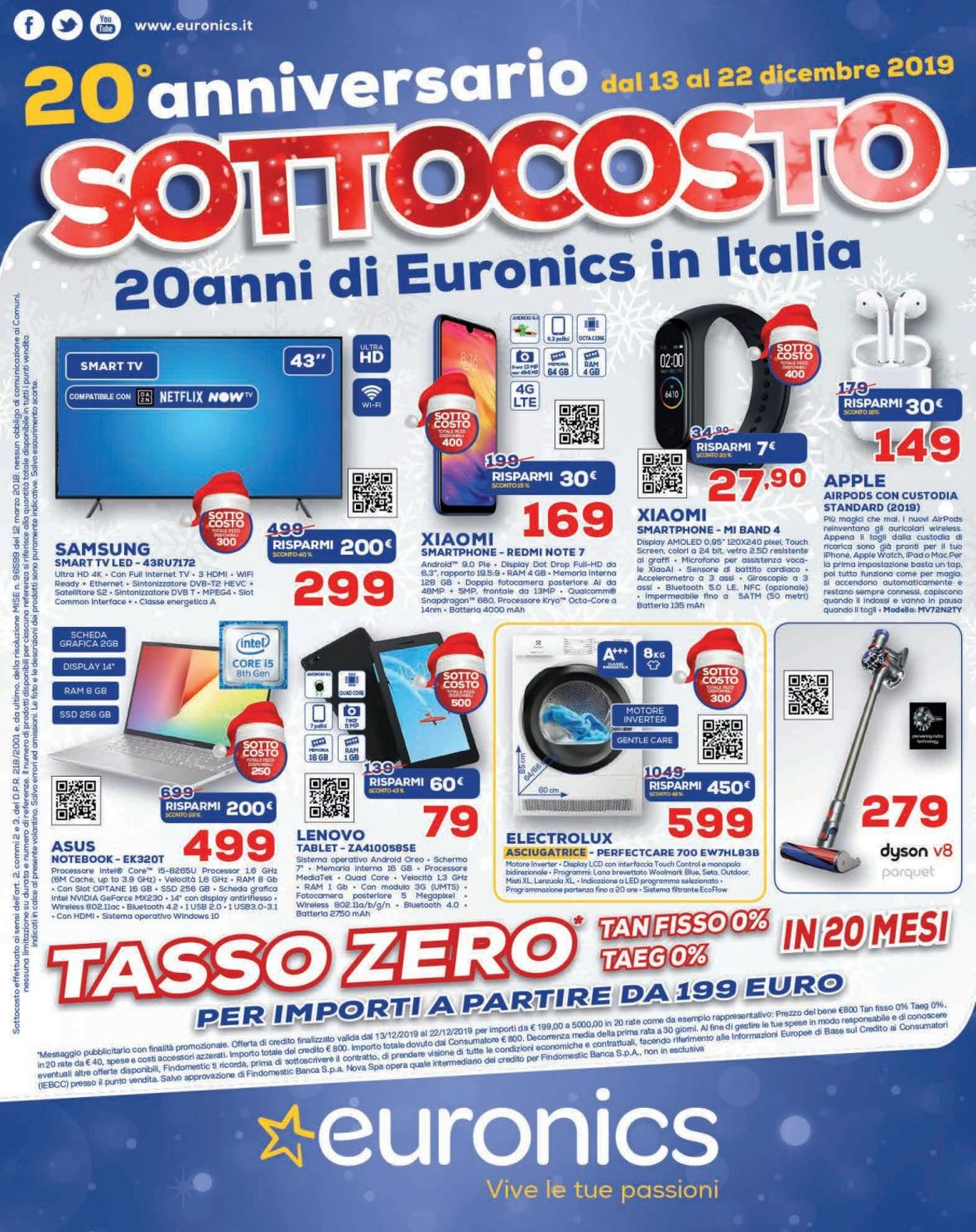 Volantino Il volantino natalizio di Euronics - Offerte 13/12-22/12/2019