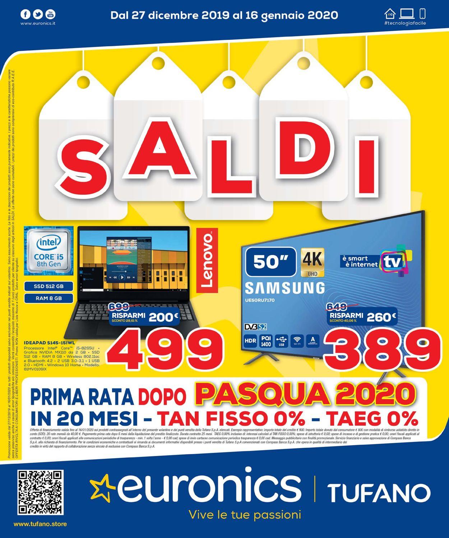 Volantino Euronics - Offerte 27/12-16/01/2020