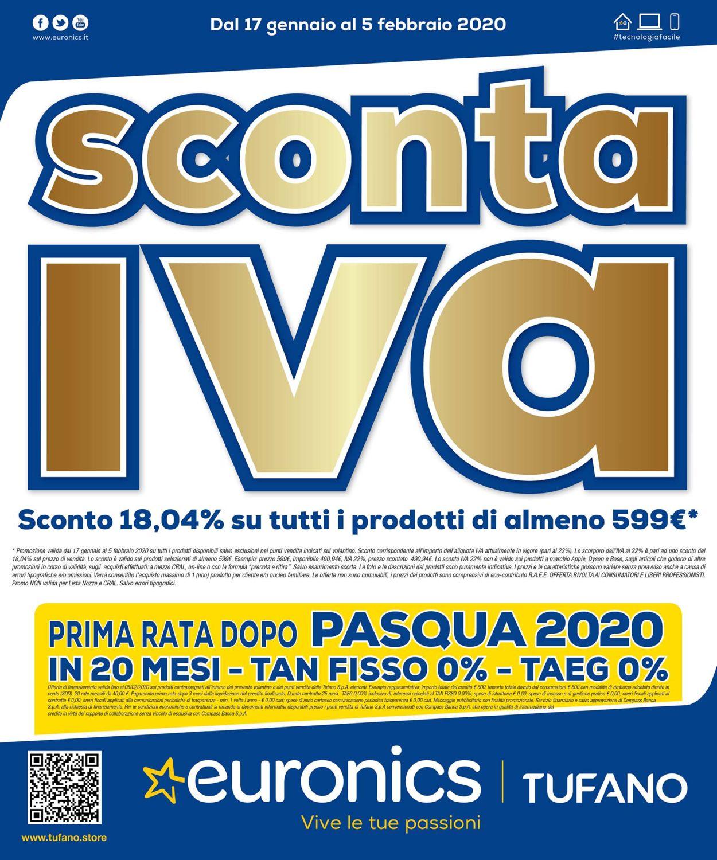 Volantino Euronics - Offerte 17/01-05/02/2020