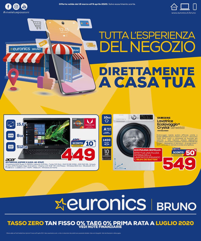 Volantino Euronics - Offerte 19/03-08/04/2020
