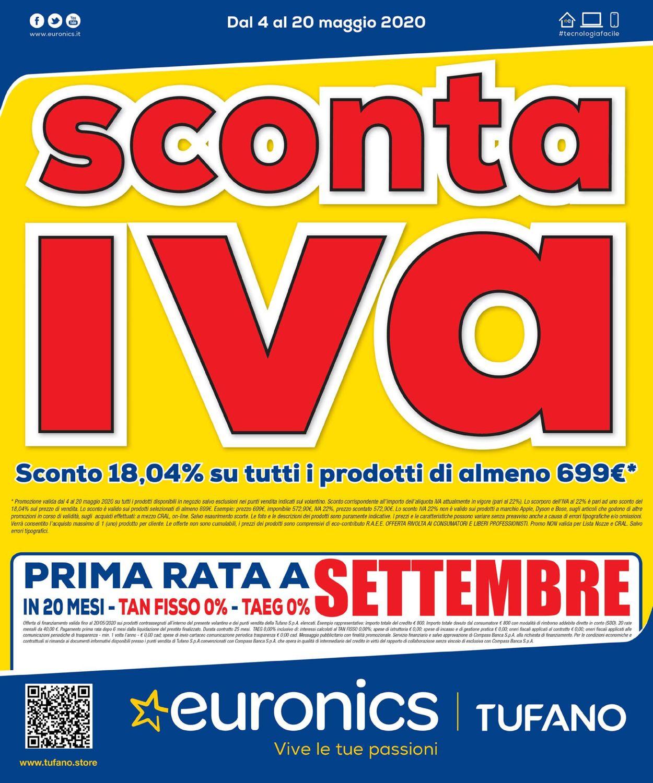 Volantino Euronics - Offerte 04/05-20/05/2020