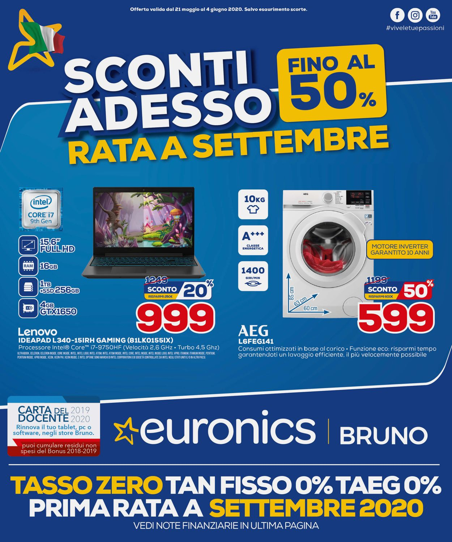 Volantino Euronics - Offerte 21/05-04/06/2020