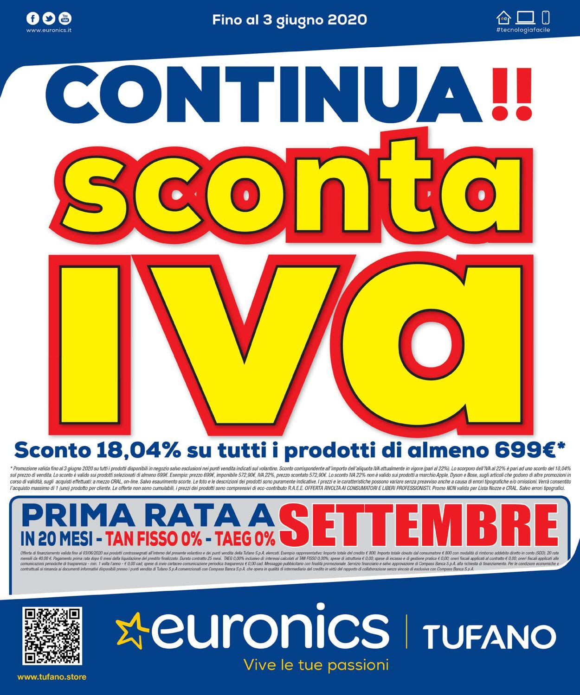 Volantino Euronics - Offerte 21/05-03/06/2020