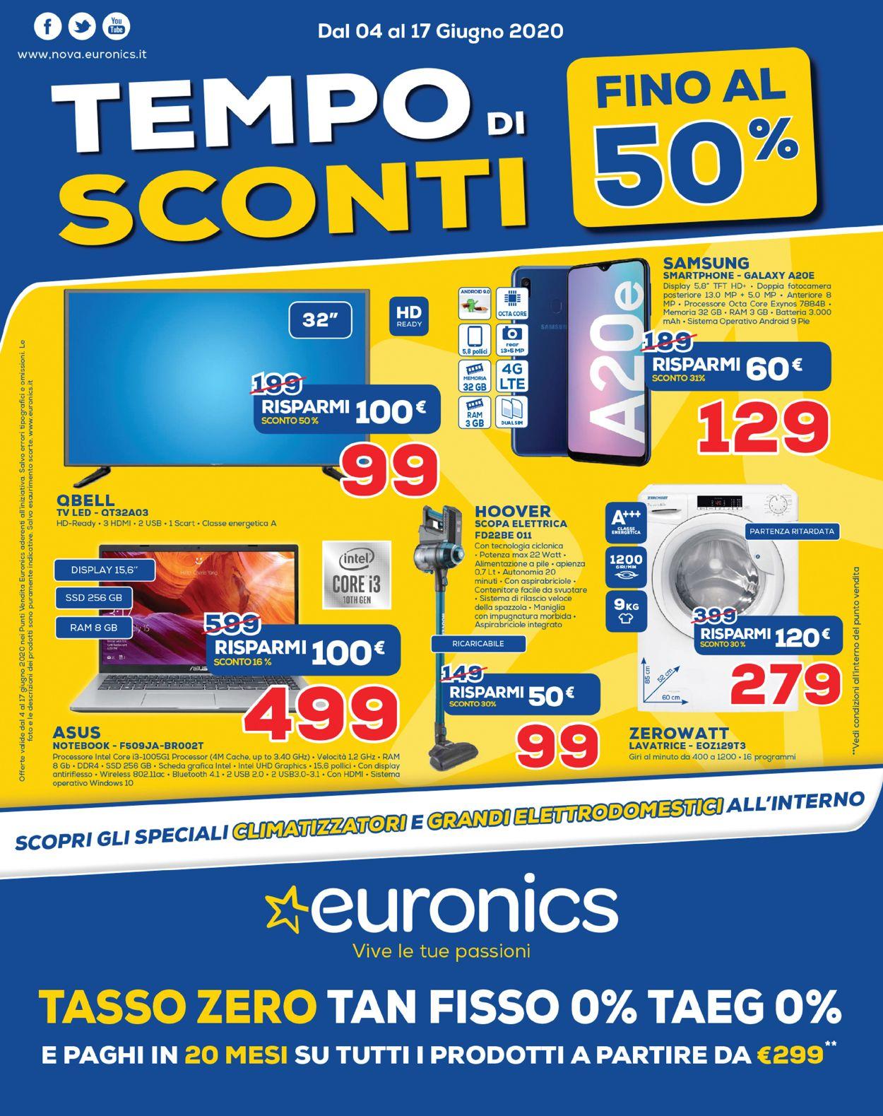 Volantino Euronics - Offerte 04/06-17/06/2020