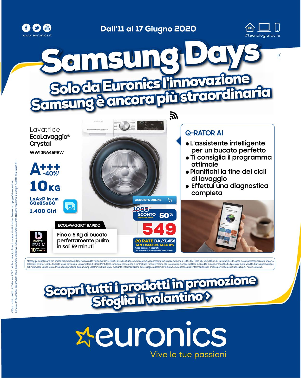 Volantino Euronics - Offerte 11/06-17/06/2020