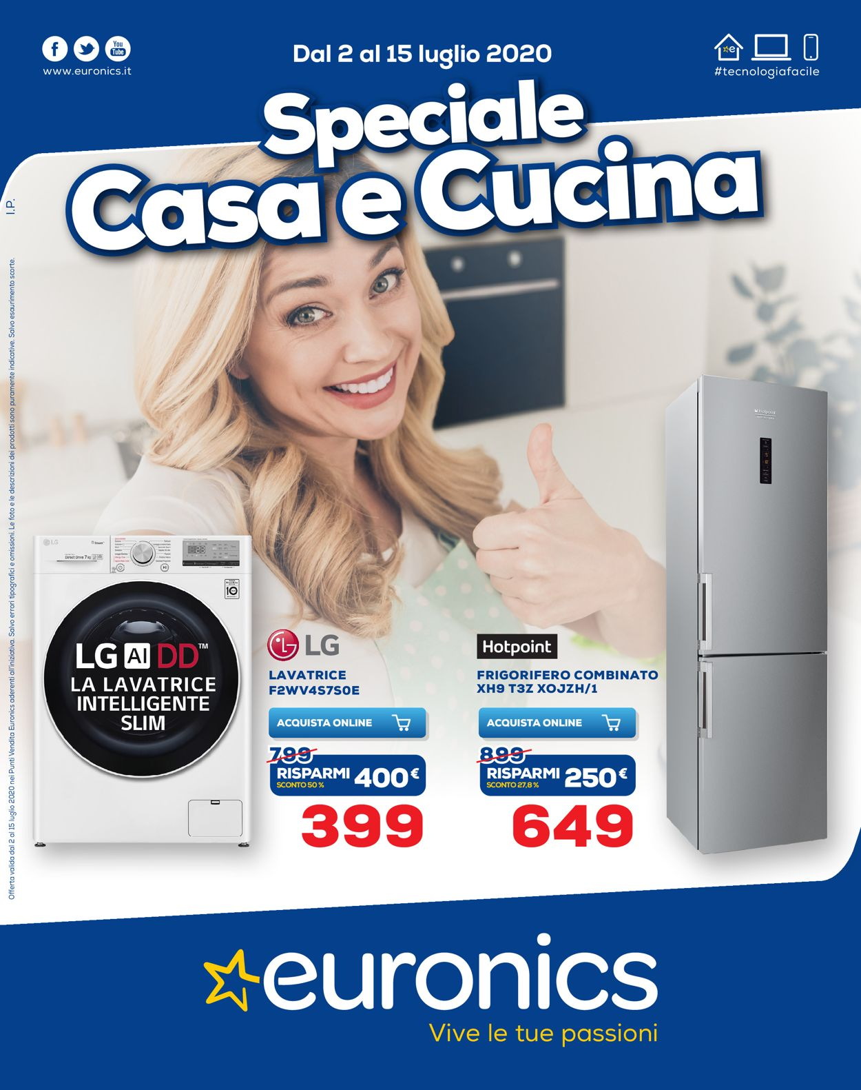 Volantino Euronics - Offerte 02/07-15/07/2020