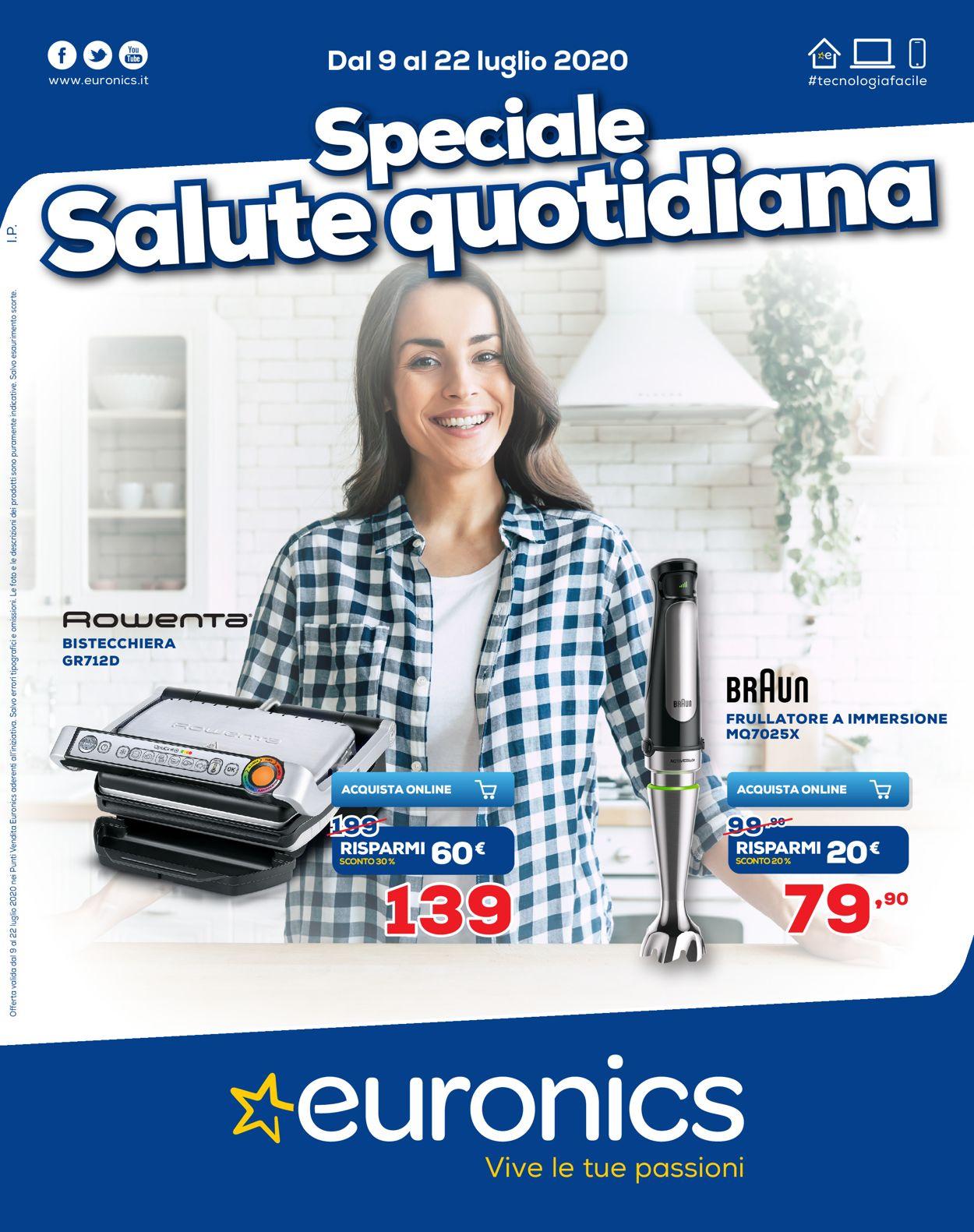 Volantino Euronics - Offerte 09/07-22/07/2020