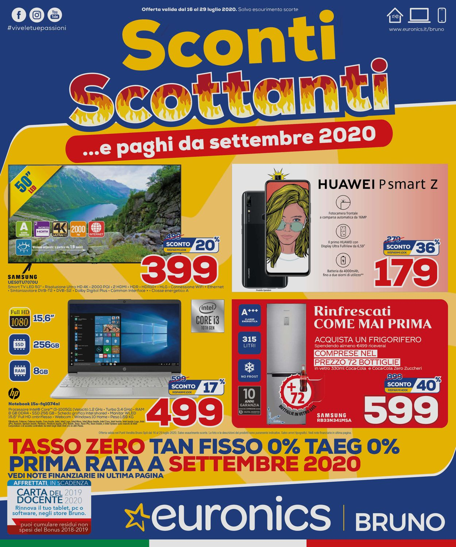 Volantino Euronics - Offerte 16/07-29/07/2020