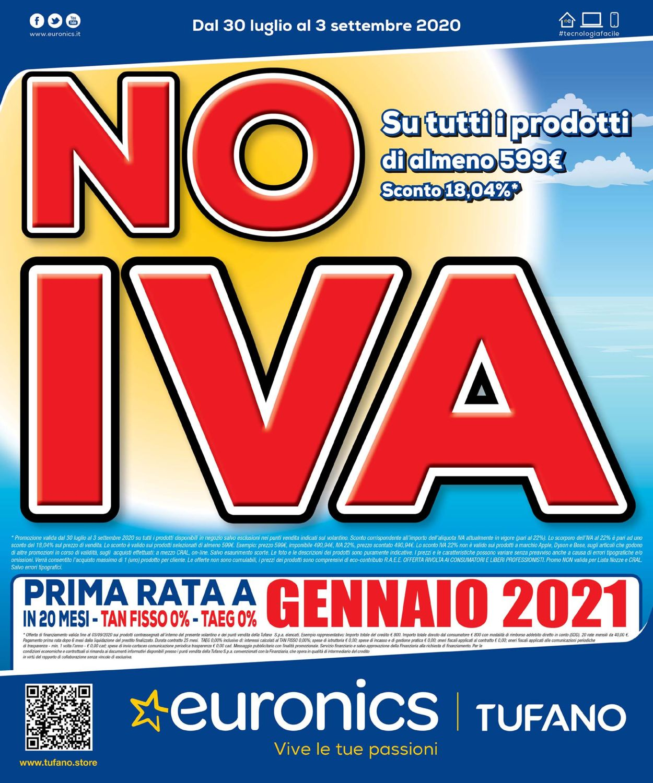 Volantino Euronics - Offerte 30/07-03/09/2020