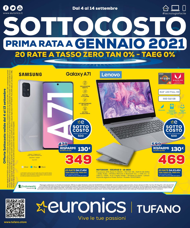 Volantino Euronics - Offerte 04/09-14/09/2020