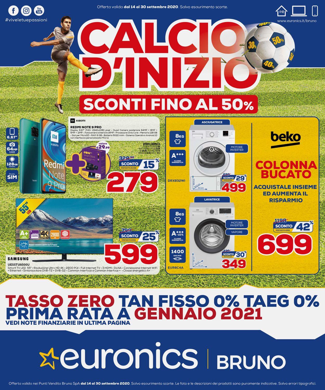 Volantino Euronics - Offerte 14/09-30/09/2020