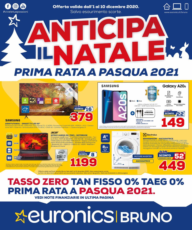 Volantino Euronics - Natale 2020 - Offerte 01/12-10/12/2020