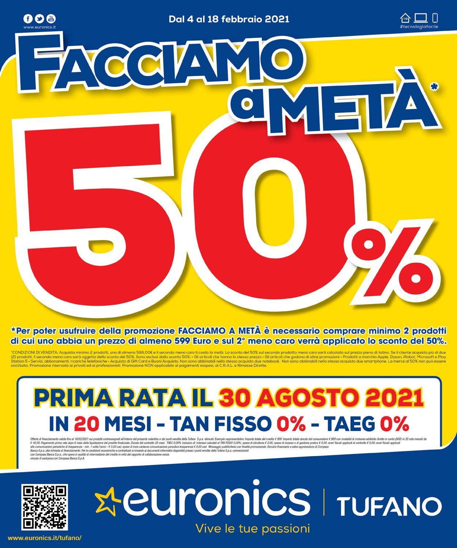 Volantino Euronics Tufano - Offerte 04/02-18/02/2021