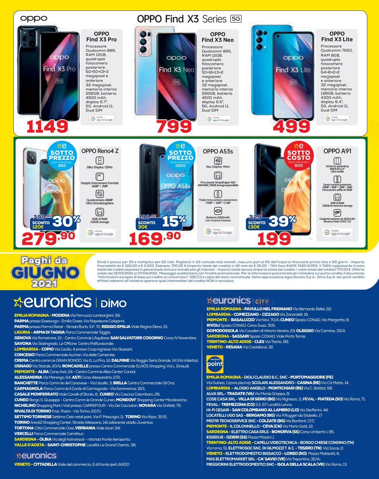 Volantino Euronics - Offerte 19/03-07/04/2021 (Pagina 12)
