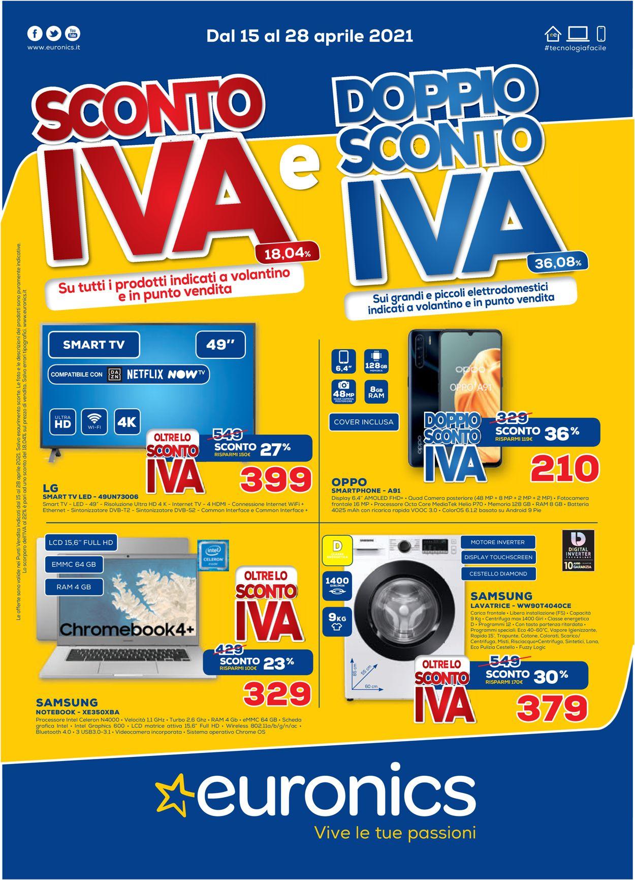 Volantino Euronics - Offerte 14/04-28/04/2021