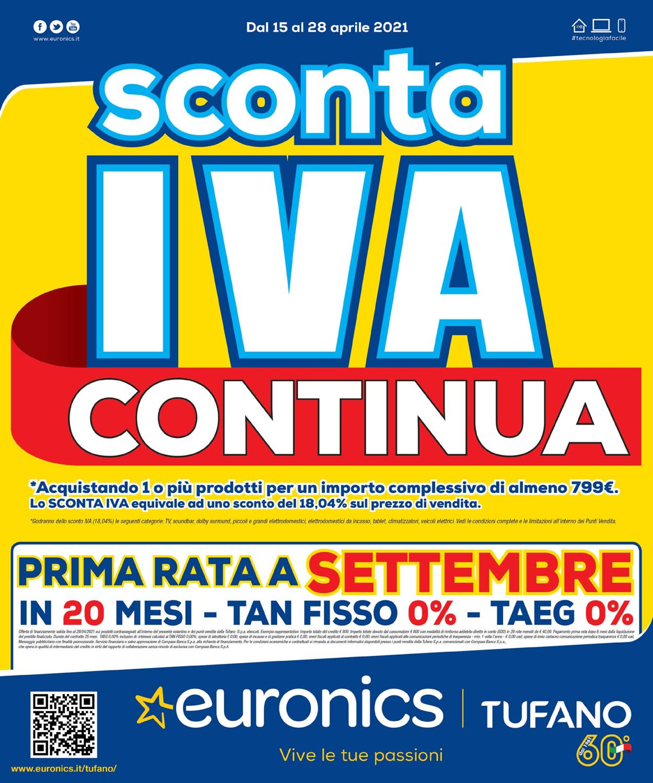 Volantino Euronics - Offerte 15/04-28/04/2021