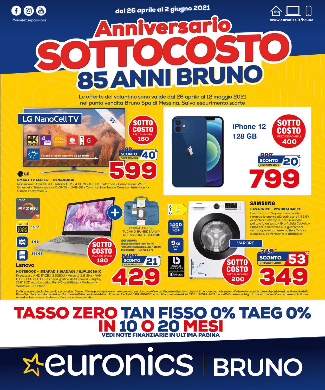 Volantino Euronics - Offerte 26/04-02/05/2021