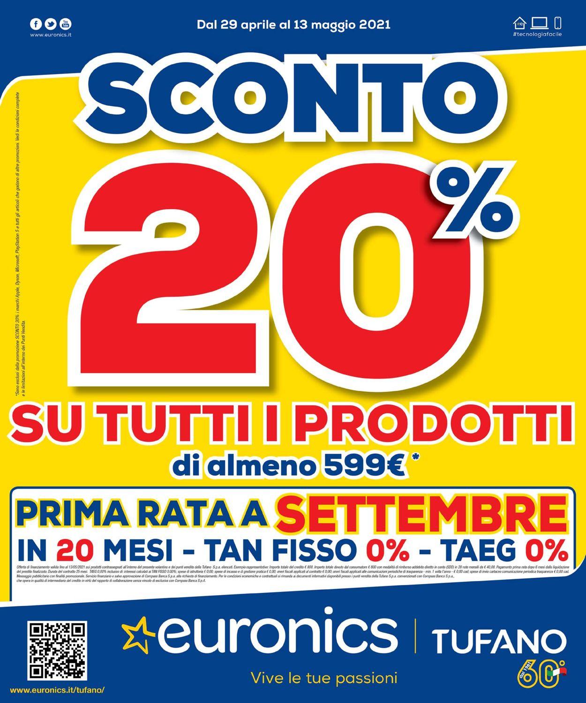 Volantino Euronics - Offerte 29/04-13/05/2021