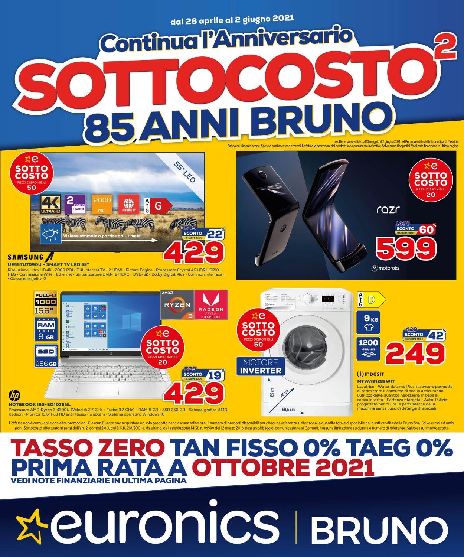 Volantino Euronics - Offerte 13/05-02/06/2021