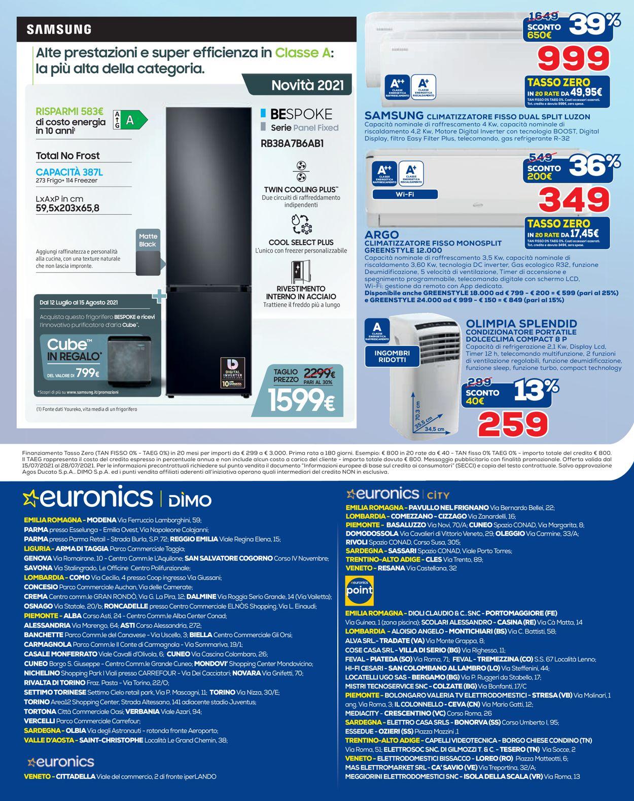 Volantino Euronics - Offerte 15/07-28/07/2021 (Pagina 12)