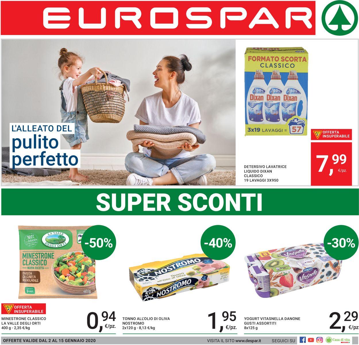 Volantino Eurospar - Offerte 02/01-15/01/2020