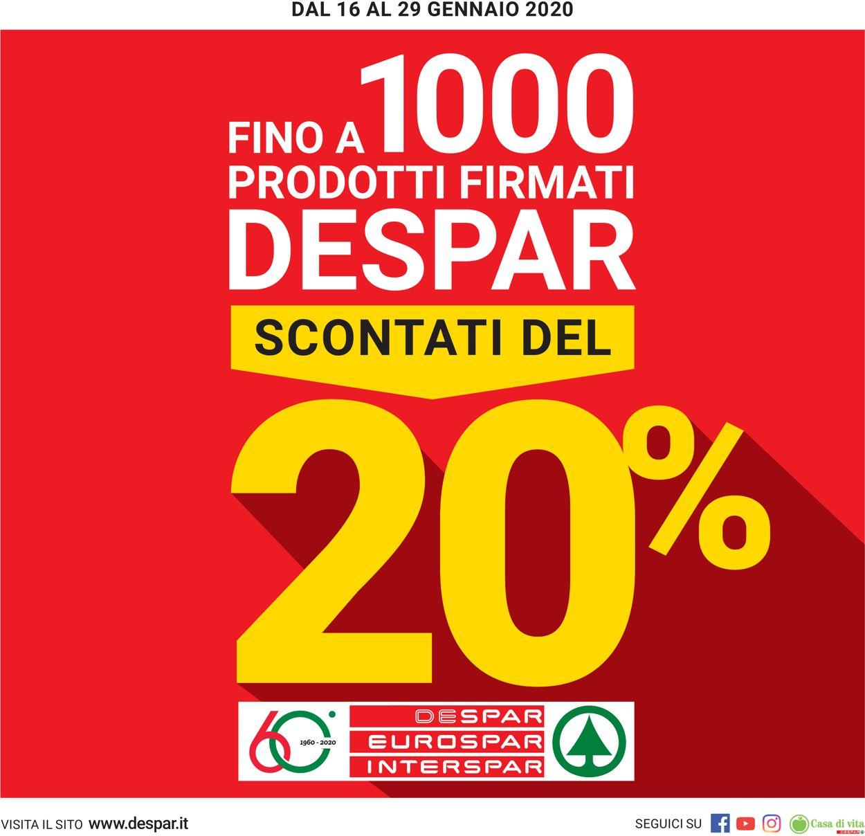 Volantino Eurospar - Offerte 16/01-29/01/2020
