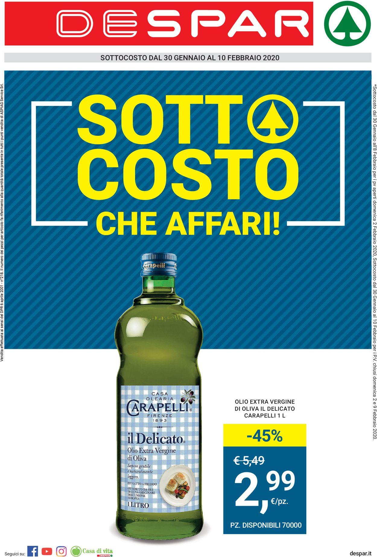 Volantino Eurospar - Offerte 30/01-12/02/2020
