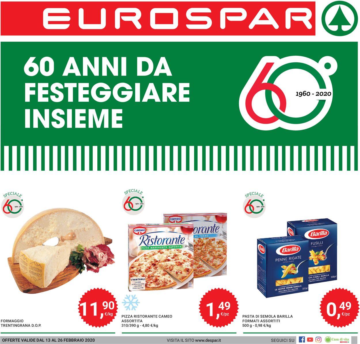 Volantino Eurospar - Offerte 13/02-26/02/2020