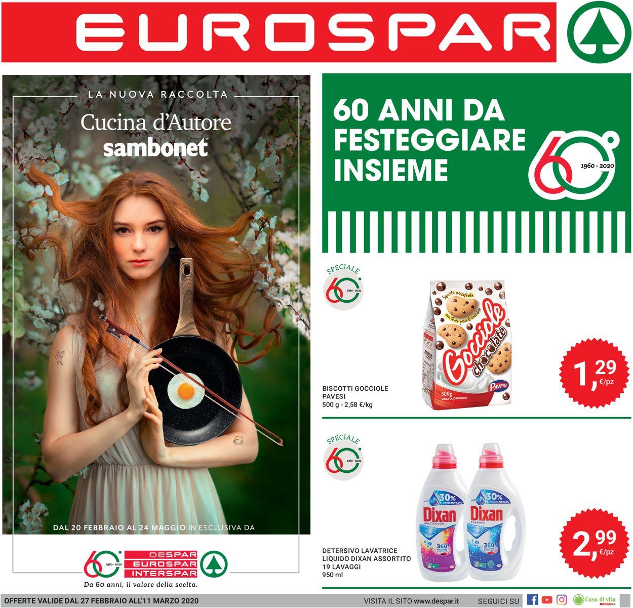 Volantino Eurospar - Offerte 27/02-11/03/2020