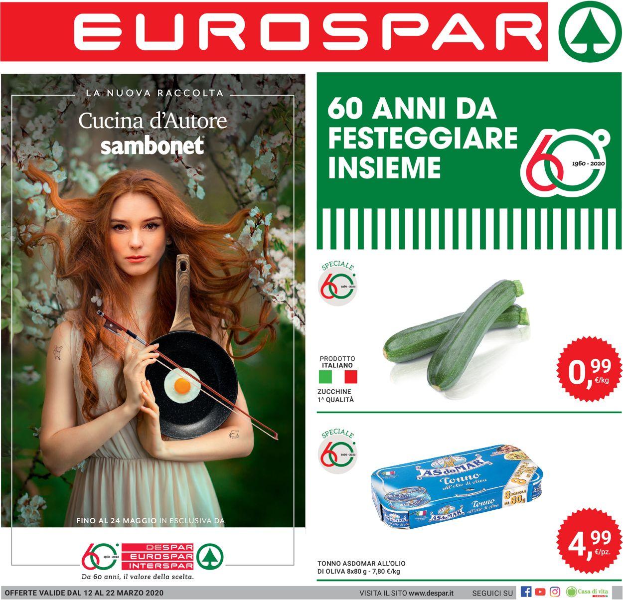 Volantino Eurospar - Offerte 12/03-22/03/2020