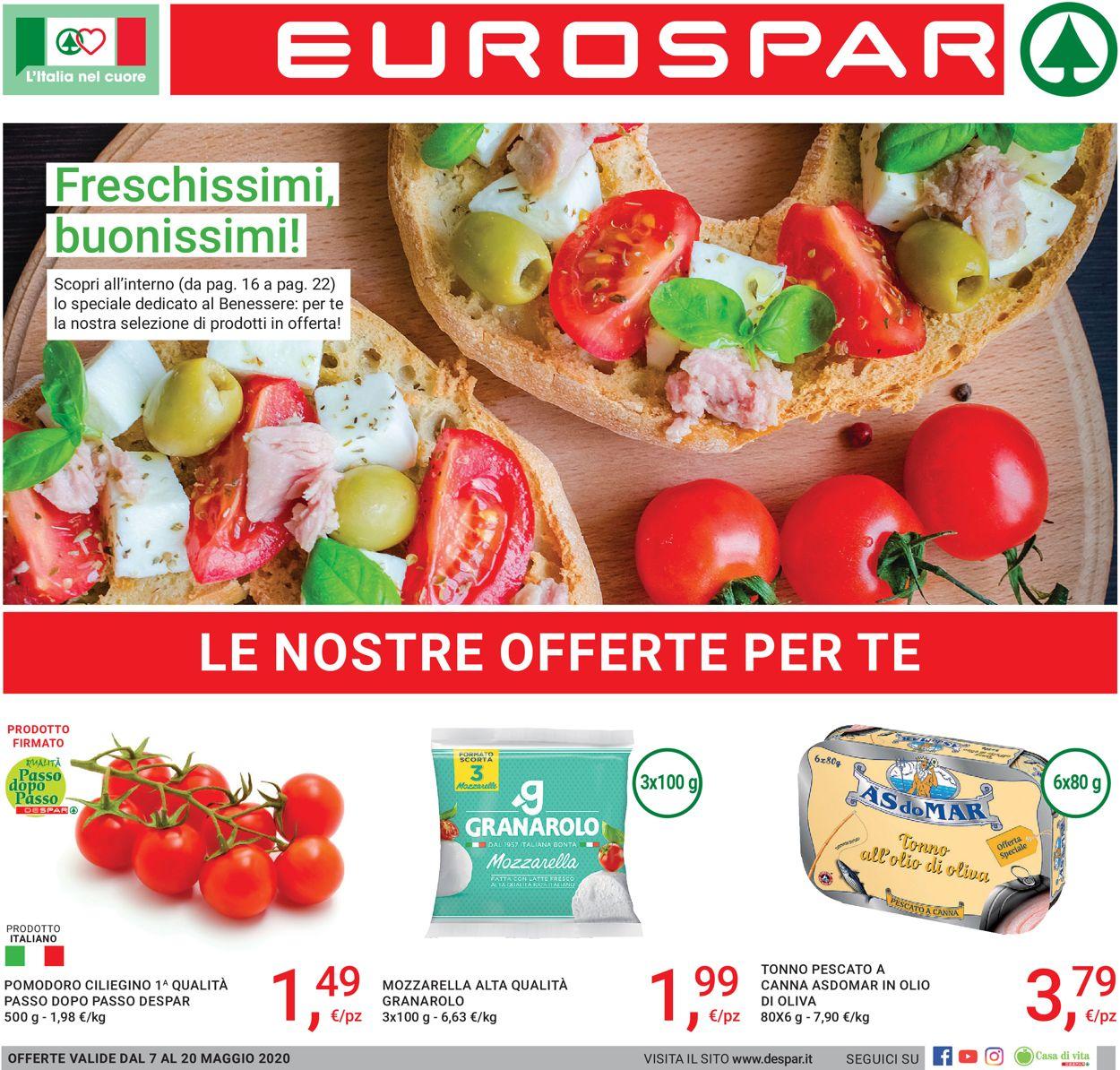 Volantino Eurospar - Offerte 07/05-20/05/2020
