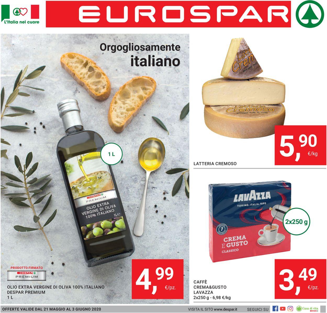 Volantino Eurospar - Offerte 21/05-03/06/2020