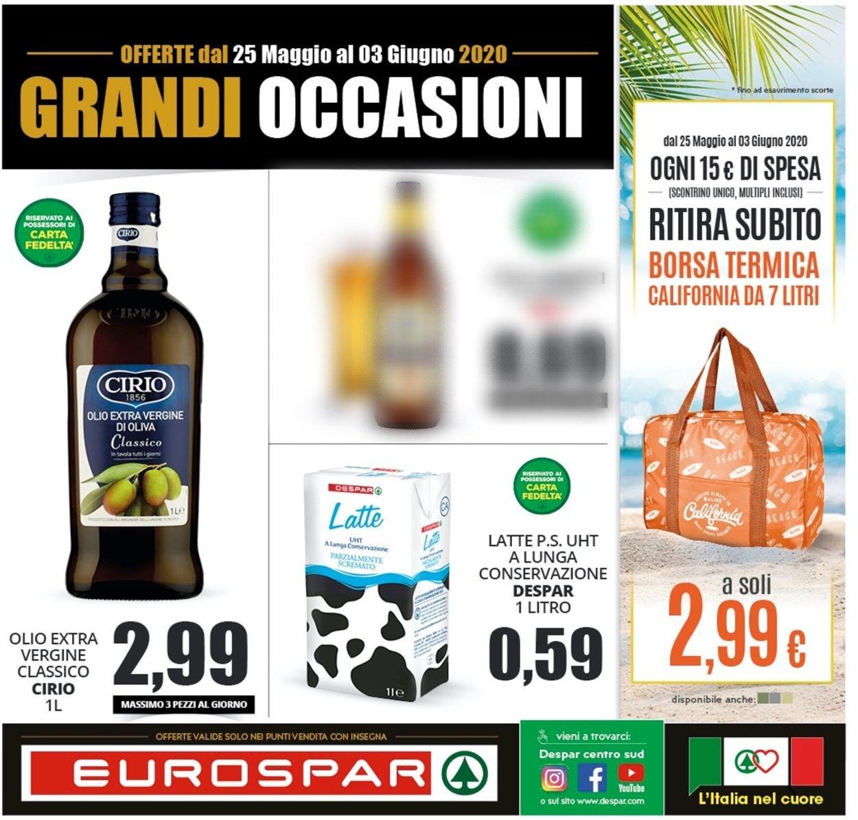 Volantino Eurospar - Offerte 24/05-03/06/2020