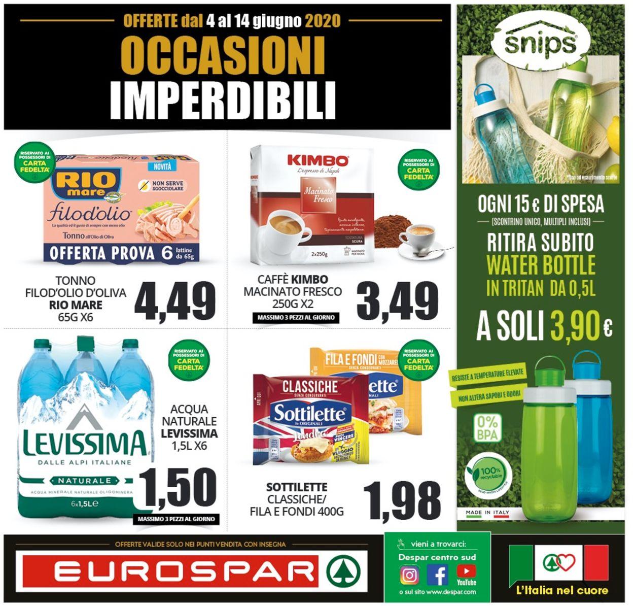 Volantino Eurospar - Offerte 03/06-14/06/2020