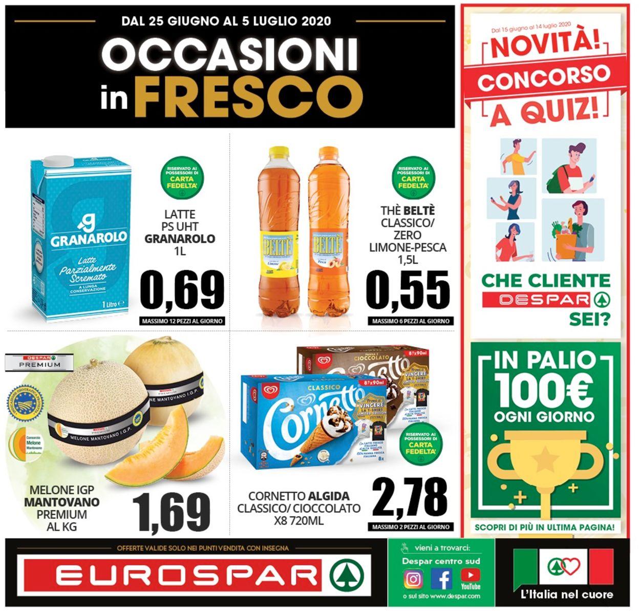 Volantino Eurospar - Offerte 24/06-05/07/2020