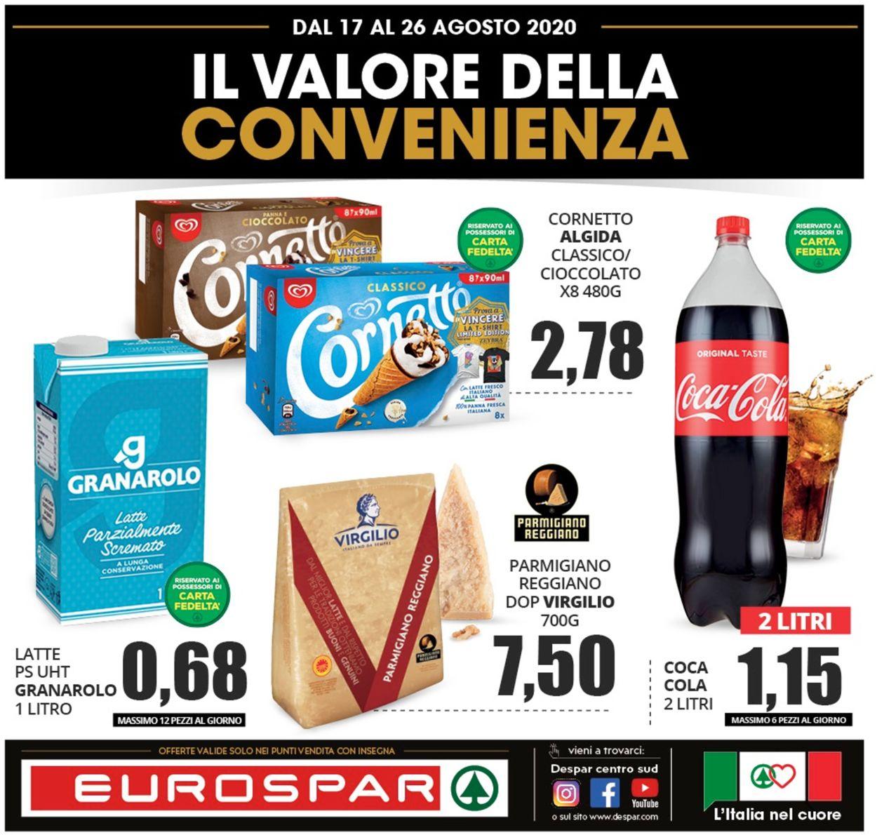 Volantino Eurospar - Offerte 16/08-26/08/2020