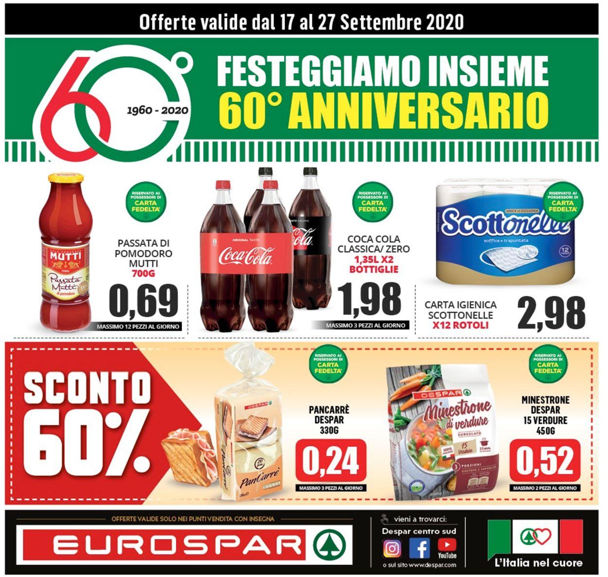 Volantino Eurospar - Offerte 16/09-27/09/2020