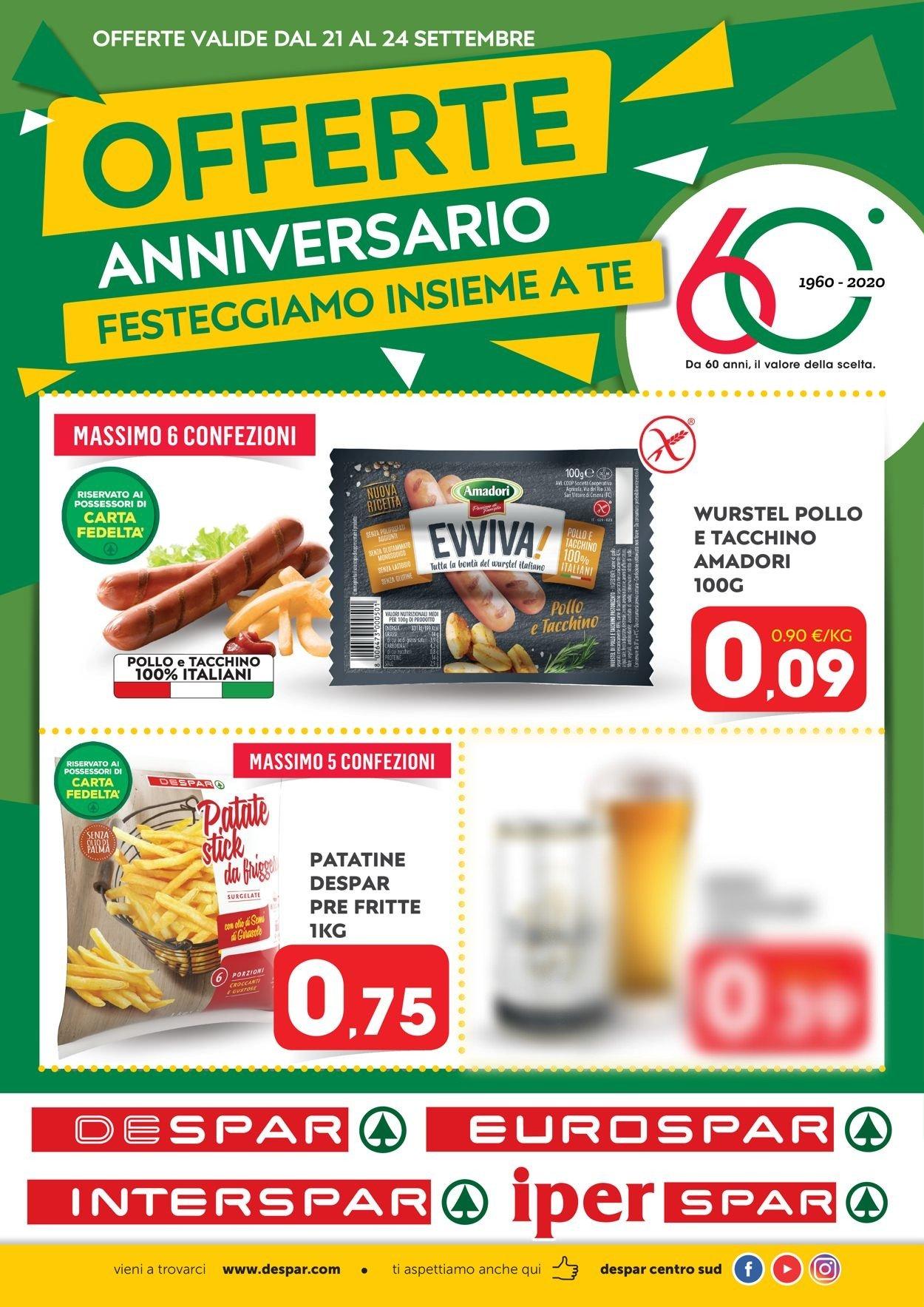 Volantino Eurospar - Offerte 19/09-24/09/2020