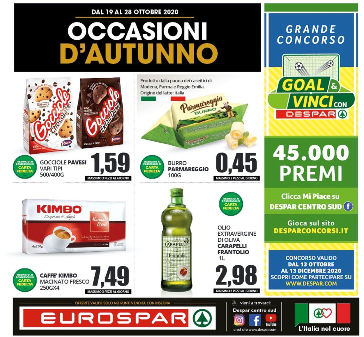 Volantino Eurospar - Offerte 19/10-28/10/2020