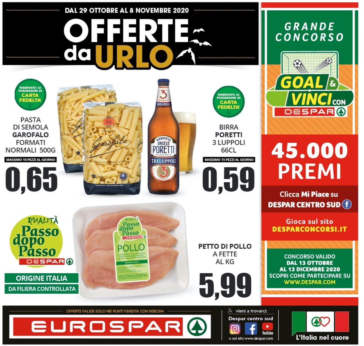 Volantino Eurospar - Offerte 28/10-08/11/2020