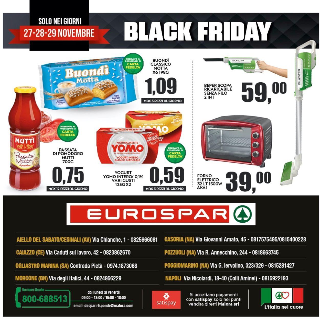 Volantino Eurospar - Black Friday 2020 - Offerte 23/11-02/12/2020 (Pagina 28)