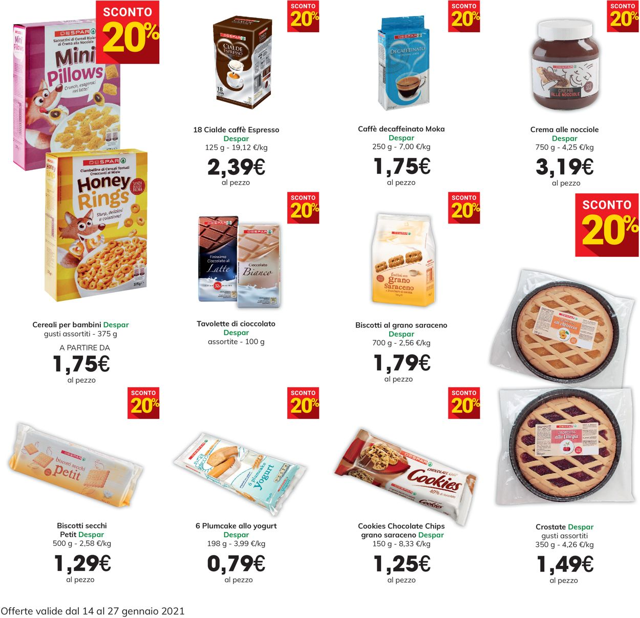 Volantino Eurospar - Offerte 14/01-27/01/2021 (Pagina 10)