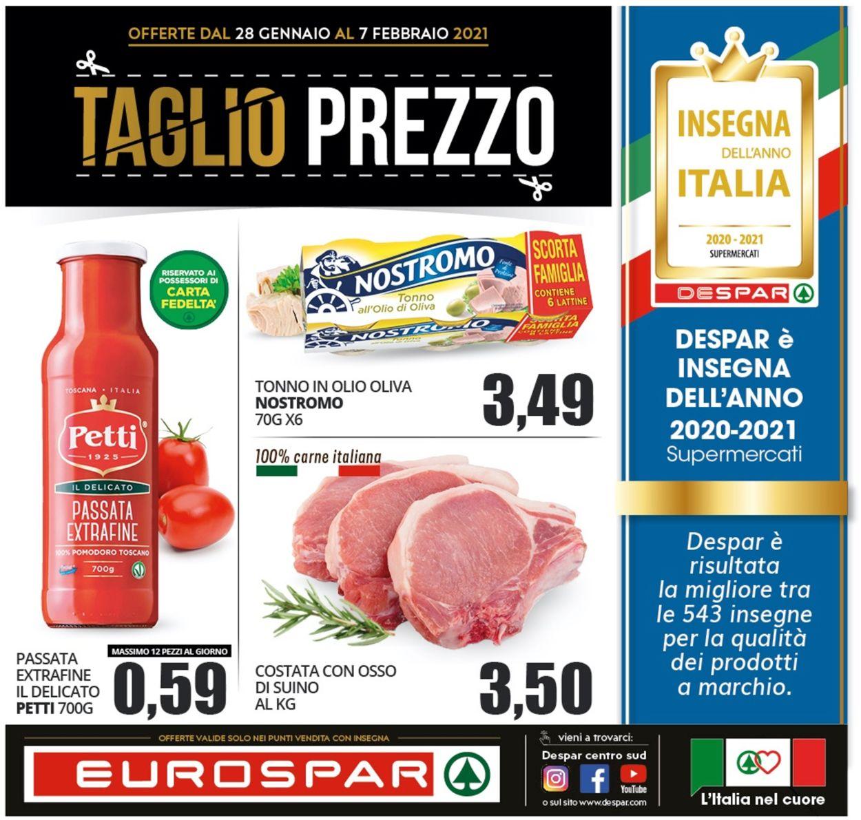 Volantino Eurospar - Offerte 28/01-07/02/2021