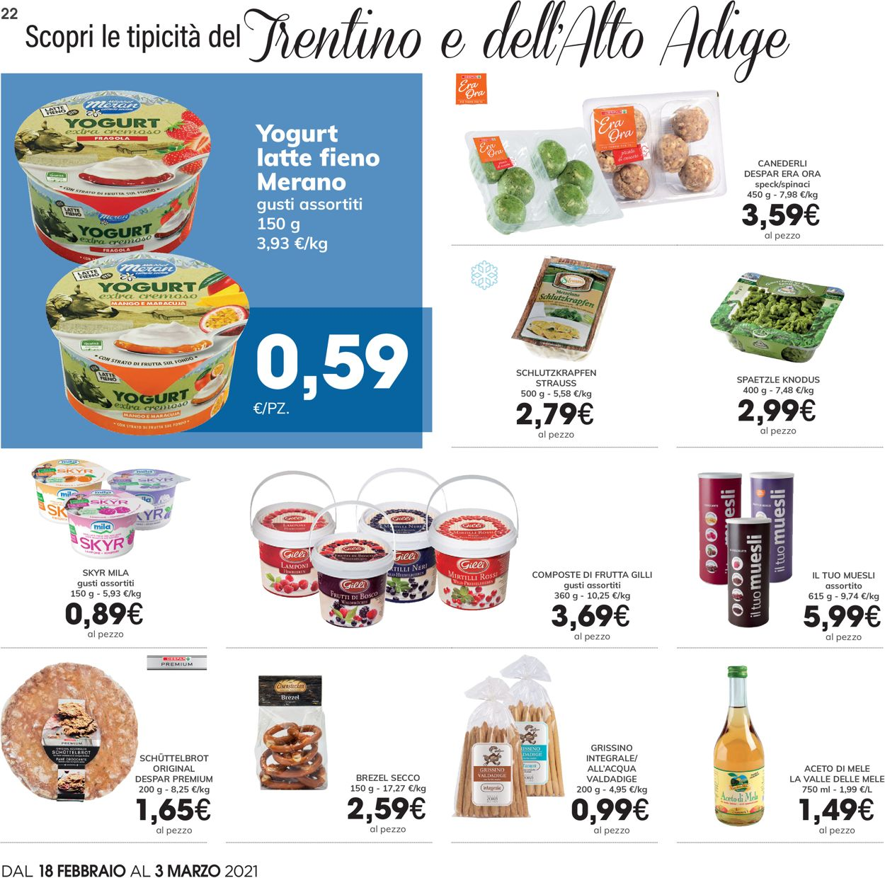 Volantino Eurospar - Offerte 18/02-03/03/2021 (Pagina 22)