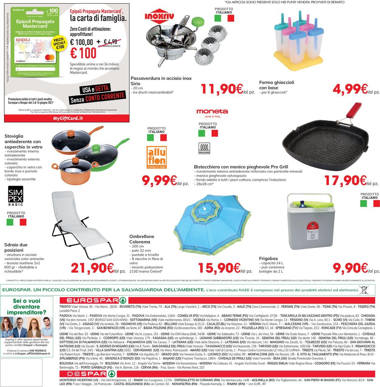 Volantino Eurospar - Offerte 03/06-16/06/2021 (Pagina 32)