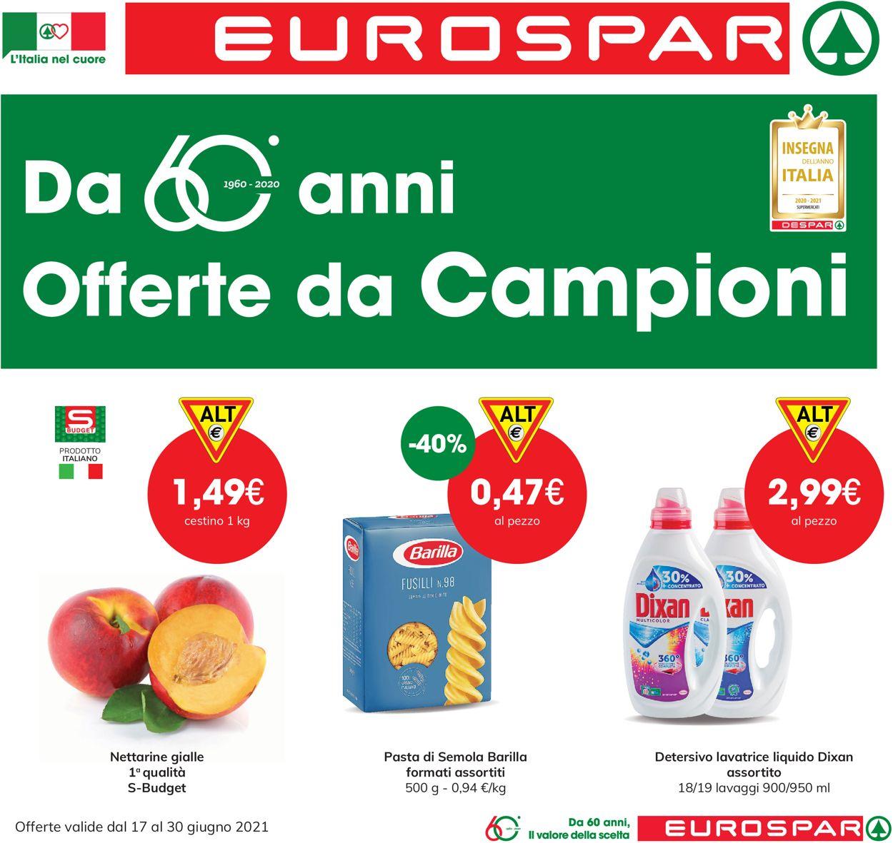 Volantino Eurospar - Offerte 17/06-30/06/2021