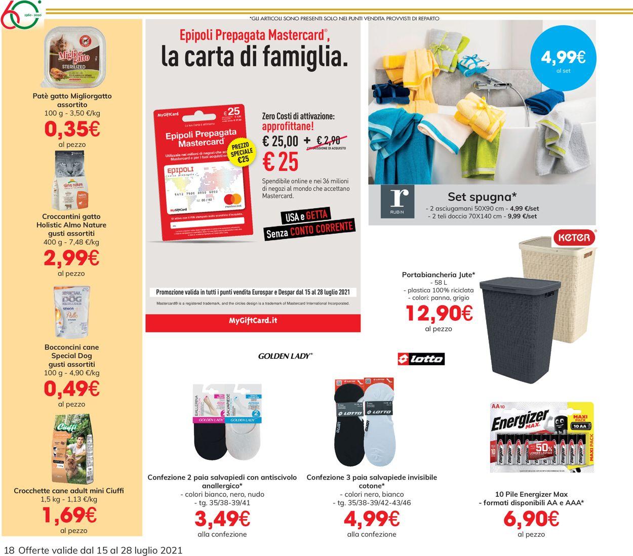 Volantino Eurospar - Offerte 15/07-28/07/2021 (Pagina 18)
