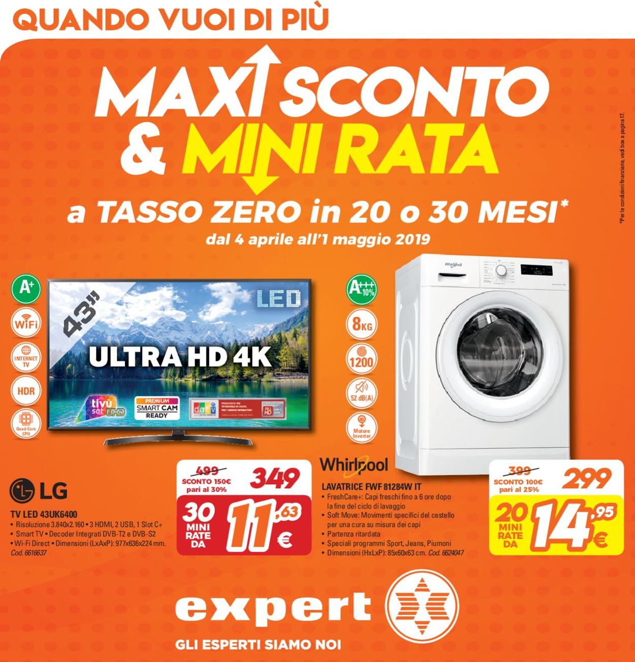 Volantino Expert - Offerte 04/04-01/05/2019