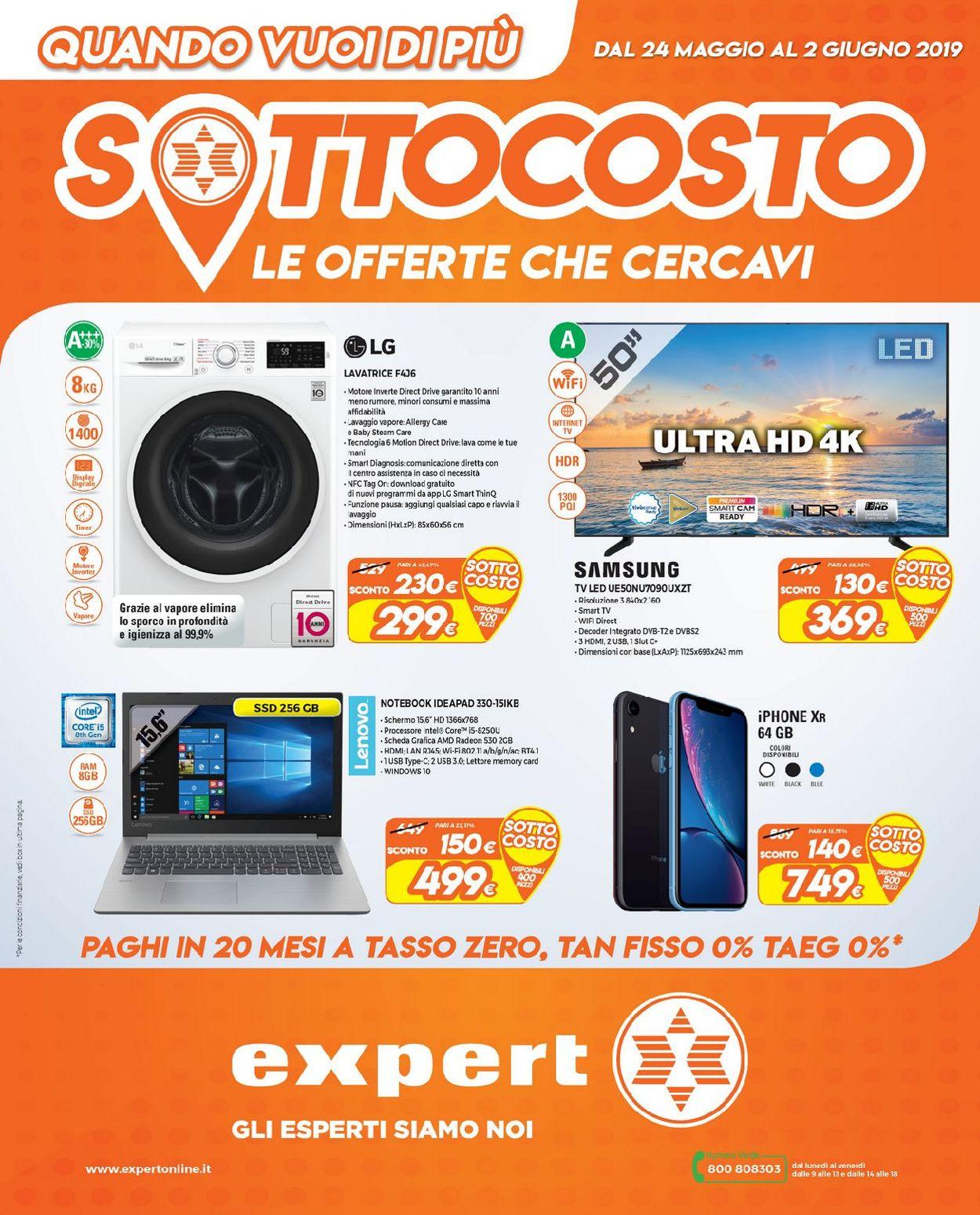 Volantino Expert - Offerte 24/05-02/06/2019
